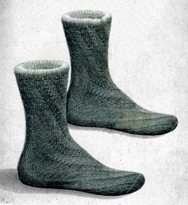 Spiral Socks without Heel Pattern