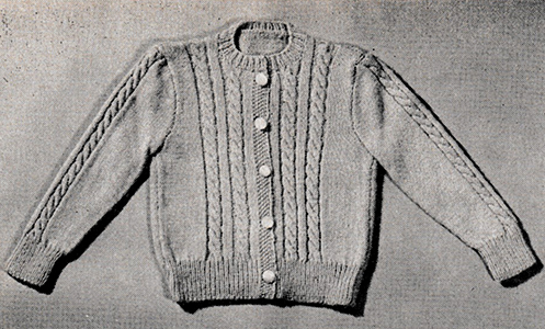 Cablestitch Cardigan Pattern #749