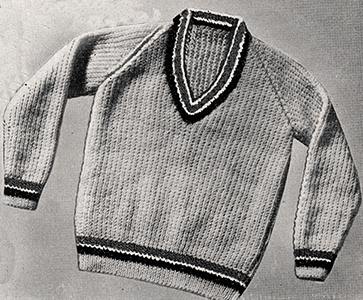 Tennis Sweater Pattern #763