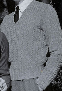 Cable Stitch  Pullover Pattern