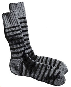 Two Tone Socks Pattern