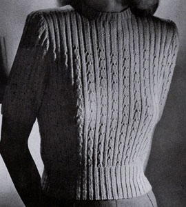Eyelet Ribbed Pullover Pattern