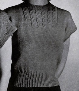 Cable Yoke Pullover Pattern