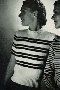 Striped Pullover Pattern No. 5303