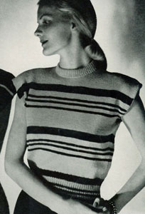 Striped Pullover Pattern No. 5306