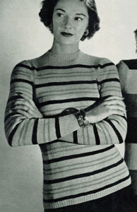 Striped Pullover Pattern No. 5309