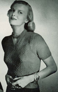 V-Neck Pullover Pattern No. 5324