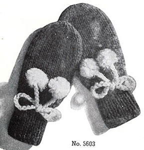 Thumbless Mittens Pattern #5603