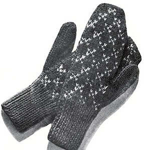 Norwegian Type Mittens Pattern #5610