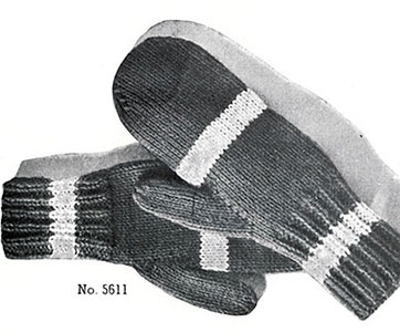 Classic Mittens Pattern #5611