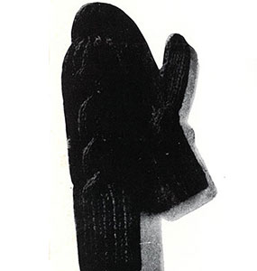 Braided Cable Mittens Pattern #5613