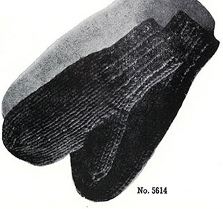 Speed Knit Mittens Pattern #5614