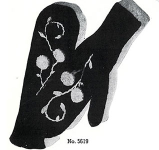 Ladies Mittens Pattern #5619