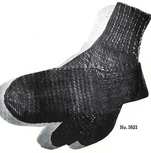 Mens Mittens Pattern #5621