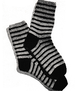 Striped Socks Pattern #5702