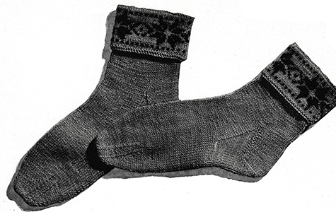Swedish-Star Socks Pattern #5705