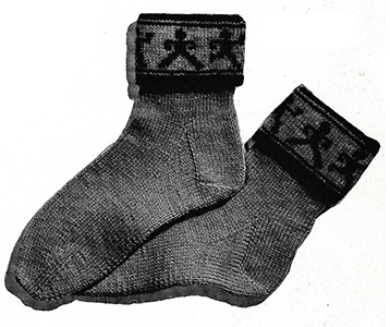 Dancing-Doll Socks Pattern #5707