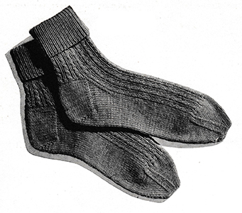Twisted-Rib Socks Pattern #5708