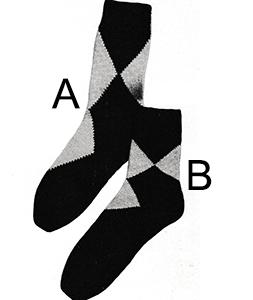 Argyle-Type Anklets Pattern #5709B