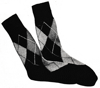 Men's Argyle Socks Pattern #5710
