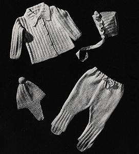Baby's Three-Piece Knitted Legging Set Pattern #6003