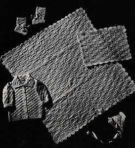 Baby's Six-Piece Knitted Set Pattern #6008