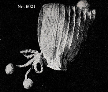 Baby's Knitted Bonnet Pattern #6021