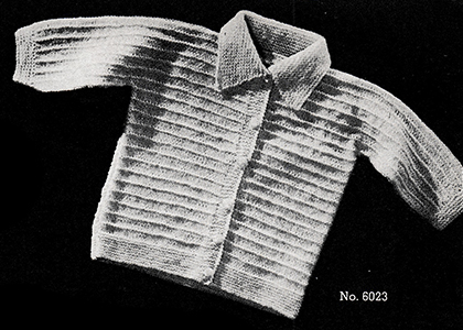 Baby's Knitted Sweater Pattern #6023