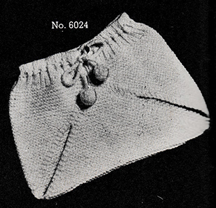 Baby's Knitted Soaker Pattern #6024