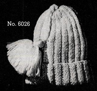 Boy's Knitted Cap Pattern #6026