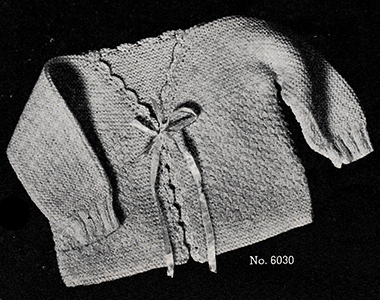 Baby's Knitted Jacket Pattern #6030