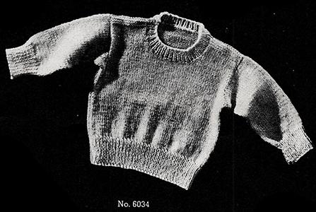 Baby's Knitted Slipover Pattern #6034