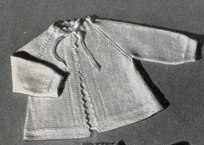 Raglan Sleeve Sacque Pattern