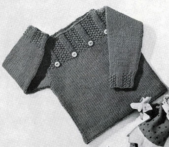 Free Knitting Patterns For Children s Pullovers : Pullover Pattern Sizes 1 2 and 3 Yrs. Knitting Patterns