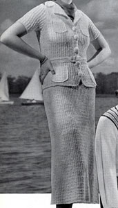 St. George's White Nub Yarn Suit Pattern