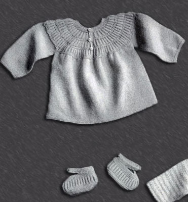 Baby Sacque and Shoes Pattern