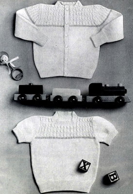 Twin Sweater Set Pattern