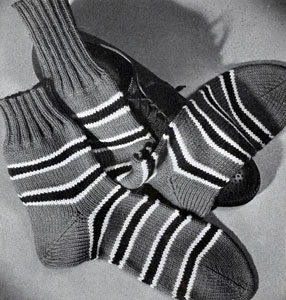 Men's Sock Pattern No. 518