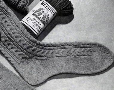 Men's Sock Pattern No. 521