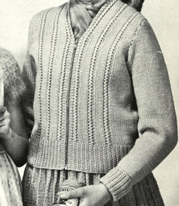 Girl's Zippered Cardigan Pattern