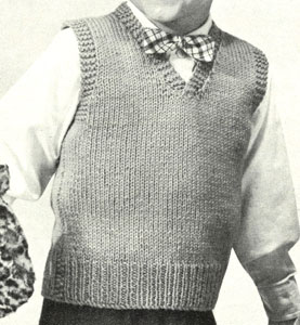 Boy's Sleeveless Pullover Pattern