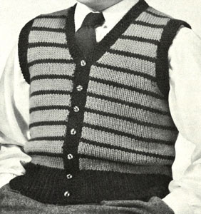 Boy's Sleeveless Cardigan Pattern
