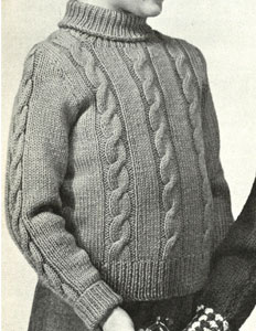 Boy's Cable Pullover Pattern