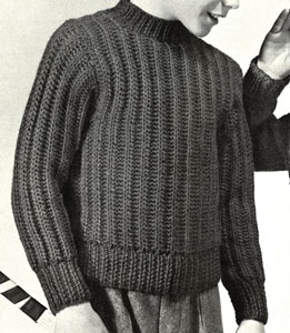 Boy's Brioche Rib Pullover Pattern