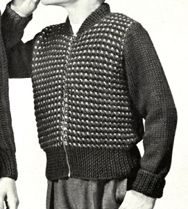Boy's Zippered Cardigan Pattern