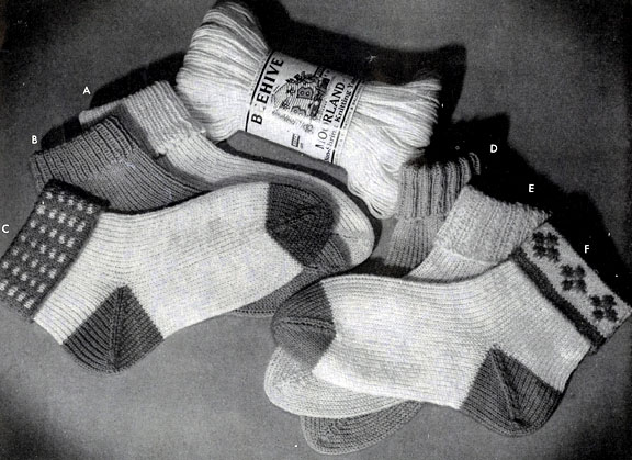 Children's Sock Pattern No. 525