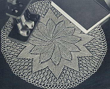 Full Bloom Doily Pattern #12-58