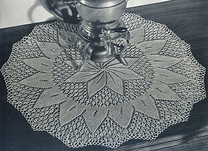 Setting Sun Doily Pattern #12-59