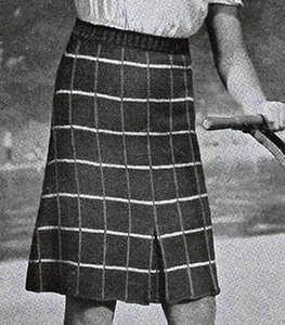 Plaid Skirt Pattern #569