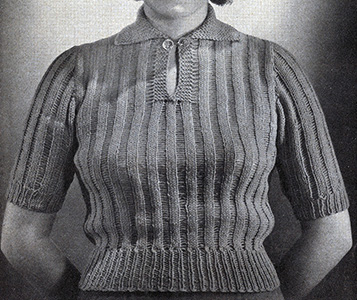 Jiffy Knit Pullover Pattern #1121
